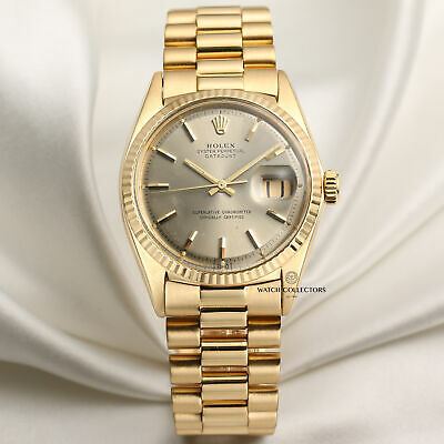 $ CDN16287.81 • Buy Rolex DateJust 1601 18k Yellow Gold Champagne Dial