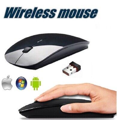 AU29.99 • Buy Ultra Slim Wireless Mouse 2.4 GHz Nano USB Receiver Cordless For Laptop PC Table