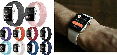 AU4.99 • Buy Silicone Replacement Strap Band IWatch 38 40 42 44m Apple Watch Series 1 2 3 4 5