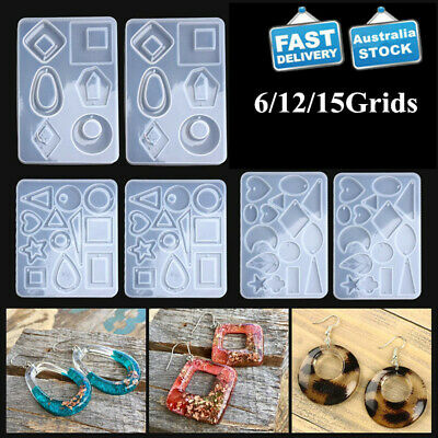 AU10 • Buy Silicone Resin Molds For Jewelry Earrings Pendant DIY Making Mould Craft Tools