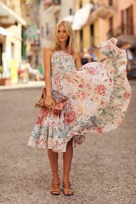 EUC Zimmermann Georgia Floral Maxi Dress Sz 2 AUS M US Anthropologie Meadowsweet • 550$