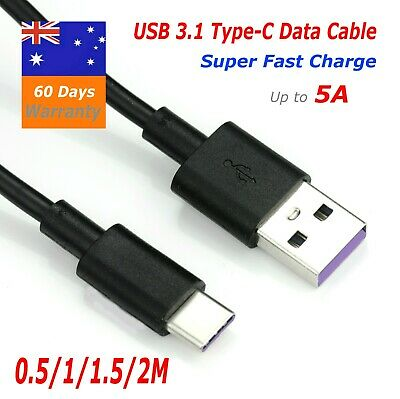 AU4.65 • Buy 5A  Fast Charger  USB3.1 Type-C Cable For Samsung Galaxy S10.Note.S9.S8,Tab A,