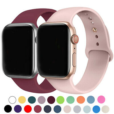 AU4.89 • Buy Replacement Silicone Band Strap For Apple Watch Series 5 4 3 2 38 40 42 44mm