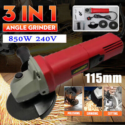 850W Angle Grinder With 115mm 4.5   Grinding Disc  Cutting Grinding Sander • 24.98£