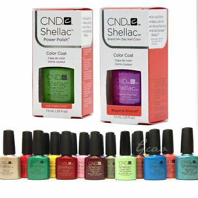 AU18.04 • Buy CND SHELLAC UV GEL COLOR Nail Polish Collection 2 Coat Pick Any Color