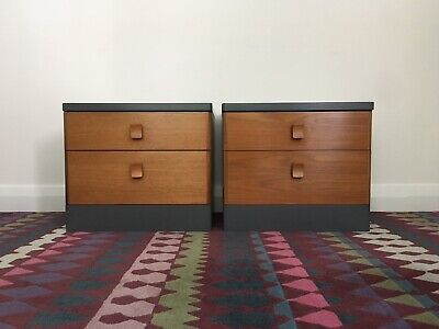 Stag Bedside Cabinets / Nightstands Hand Painted In Farrow & Ball • 250£