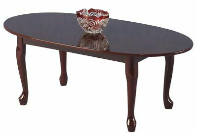 £74.99 • Buy Coffee Table Mahogany Queen Anne Traditional Antique Oval Top Gloss Finish