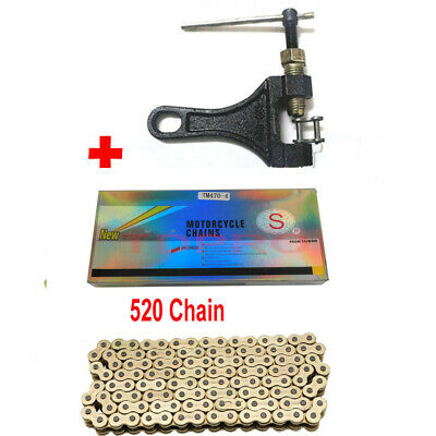 AU82.99 • Buy O-Ring Motorcycle Dirt Bike Chain 520 Pitch 120 Links Chain Breaker Master Links