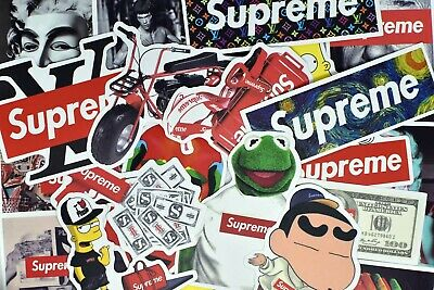 $10.99 • Buy 100 Supreme Hypebeast Vinyl Stickers For Hydro Flask Laptop Suitcase Car Bumper