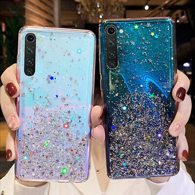 $2.84 • Buy For Xiaomi Redmi Note 8 7 6 Pro Glitter Crystal Clear Soft Rubber TPU Case Cover