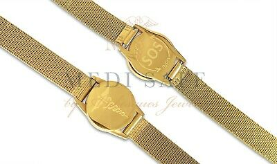 Top Quality Sos Bracelet Mens Medical Info/alert Stainless Steel Talisman Gold • 24.99£