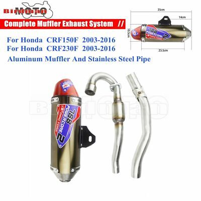 £112.49 • Buy Complete Exhaust Muffler Pipe Silencer Dirt Pit Bike Pipe For Honda CRF 150 230F
