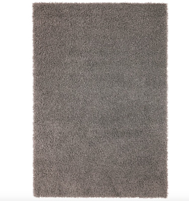 IKEA Large HAMPEN Grey High Pile Rug  230cm X 160cm • 45£
