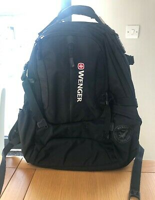 Wenger Swiss Army Backpack, Laptop Computer Bag Black Condition Is Excellent • 49£