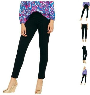 Lilly Pulitzer Sz Small Black Ponte Knit Ankle Length Pull On Travel Pants • 23.99$