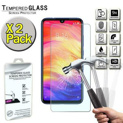 $4.99 • Buy X2 Pack Genuine Tempered Glass Screen Protector Cover For Xiaomi Redmi Note 7