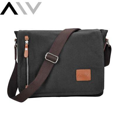 AU31.90 • Buy Mens Crossbody Messenger Bag Shoulder Satchel Vintage Canvas Laptop School