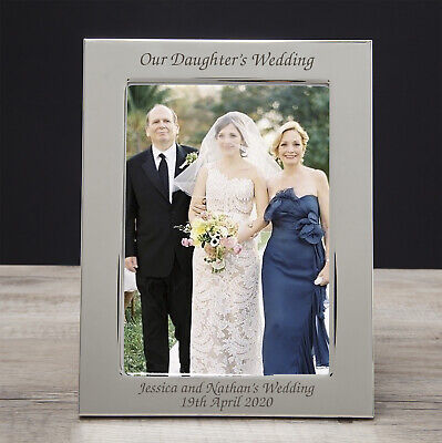 £10.99 • Buy Personalised On Our Daughters Wedding Photo Frame Parents Wedding Day Gift Idea