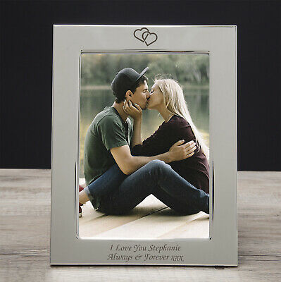 I Love You 5x7 Silver Photo Frame For Boyfriend Girlfriend Gift Valentines Day • 10.99£