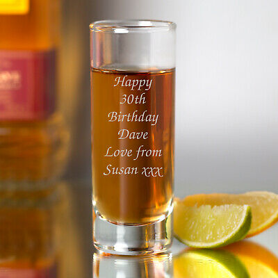 Personalised Shot Glass For Birthday 18th 21st 30th Gifts Ideas Girls Mens Him • 6.99£