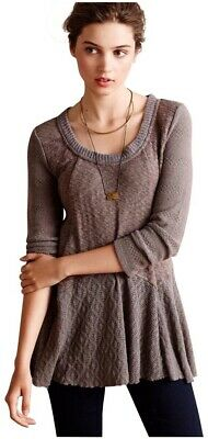 $ CDN39.49 • Buy Anthropologie Meadow Rue Women's Sz M Lace Texture Detailed Skirted Sweater Top