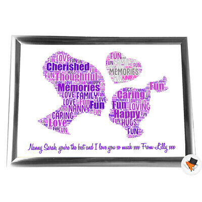 Personalised Gifts Christmas Nanny Nan Grandmother Her Framed Her Grandaughter • 5.99£