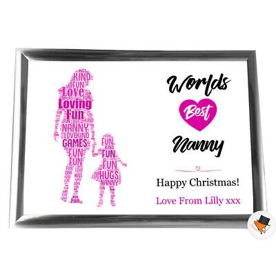 £6.29 • Buy Personalised Gifts Christmas Nanny Nan Grandmother Framed Her  Card Grandaughter