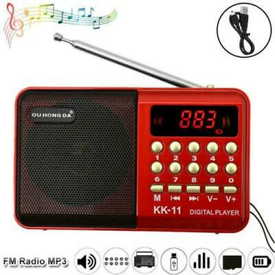 £6.42 • Buy Mini Portable FM Radio LCD Digital MP3 Player Speaker USB TF Rechargeable A T2A3