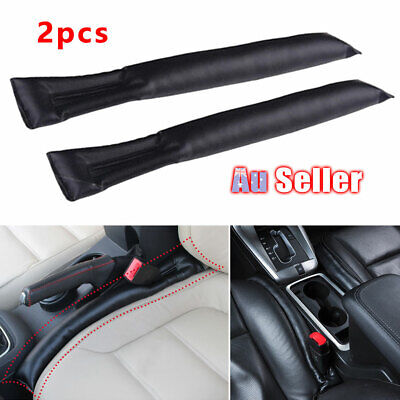 AU12.95 • Buy 2Pcs For Black Car Seat Gap Filler Accessories Spacer Auto BMW Supply PU Leather