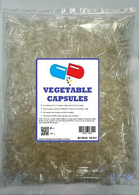 AU5.20 • Buy Size # 4 3 2 1 0 00 000 Empty Vegetable Capsules No Gelatin, Bulk Pills Drugs