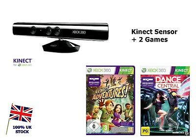 £26.95 • Buy  Xbox 360 Kinect Sensor BUNDLE With 2 GAMES - Kinect Adventures + Dance Central