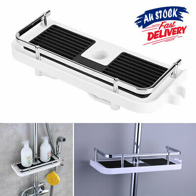 AU19.75 • Buy Shower Caddy AU Storage Pole No Drills Organiser Bathroom Shelf Holder Tray