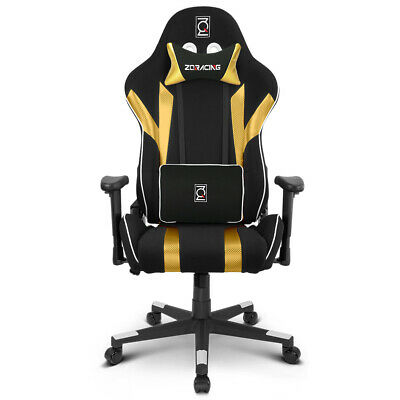 AU299 • Buy ZQRacing Gamer Series Gaming Office Chair-Gold/Black [In Stock]