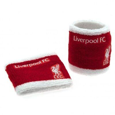 Liverpool LFC Football Club Red White Wristbands Sweatbands Cotton Official • 6.95£