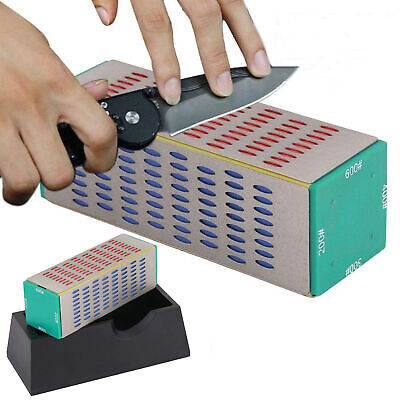 $14.98 • Buy 4 Sides Diamond Knife Sharpener Professional Hone Block Sharpening Whetstone