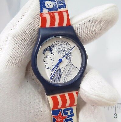 £28.39 • Buy CLINTON/GORE, 1996 Politician RARE! Cool, MEN'S CHARACTER WATCH,72