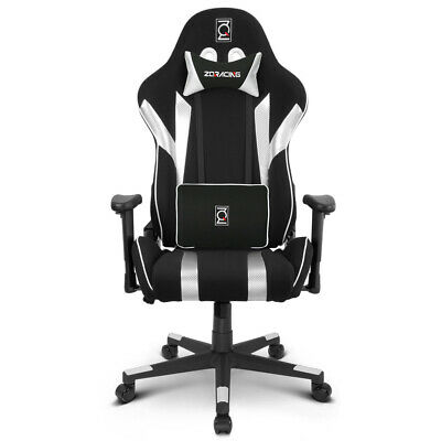 AU299 • Buy ZQRacing Gamer Series Gaming Office Chair-Silver/Black [In Stock]