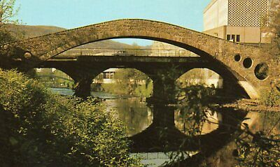 Old Postcard: Old And New Bridges, Pontypridd. • 1.50£