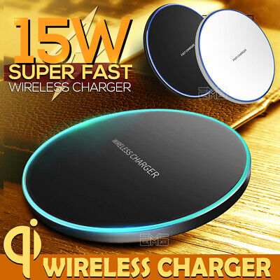 AU16.65 • Buy 15W Qi Wireless Charging Charger For Pad IPhone 11 Pro XS Max XR Samsung S9 S10+