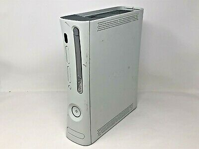 Microsoft Xbox 360 Console Only White No Hard Drive Tested Works Disc Tray Stuck • 33.99$