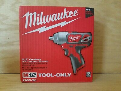 Brand New  Milwaukee 2463-20 M12  3/8   12V Cordless Impact Wrench   Tool Only  • 88.95$