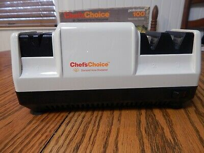 Chefs Choice Professional Model 100 3 Stage Diamond Hone Knife Sharpener H.D. • 32.99$
