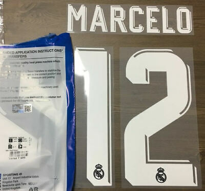 $22.50 • Buy Sporting Id Official Adidas Real Madrid Away Nameset Print MARCELO 12 2017/18