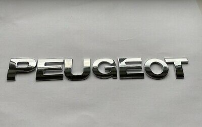 £8.75 • Buy QUALITY FULL METAL 25MM Chrome 3D Self-adhesive LETTERS Word Spelling PEUGEOT