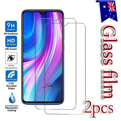 AU1 • Buy 2 Pack For Xiaomi Redmi Note 8T/8 Pro Tempered Glass Screen Protector Flim Guard