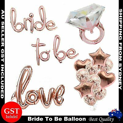 AU4.99 • Buy Bride To Be Hens Party Bridal Shower Decorations Engagement Balloons Banner Rose