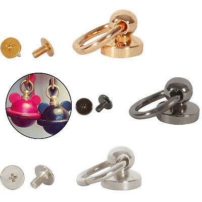 £3.49 • Buy O Ring Rivet With 9.5mm Ball Post Round Swivel Screw Back Nail Head Chicago Stud