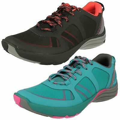 £59.99 • Buy Ladies Clarks Wave Walk Mesh Lace Up Sports Shoes Active Wear Trainers Wave Kick