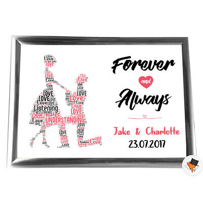 Personalised Gifts Anniversary Her Him Couple  Keepsake Card Romantic Christmas • 4.99£