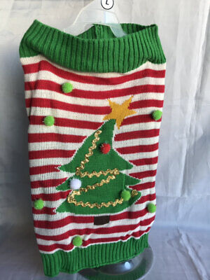 $10.39 • Buy LARGE Dog CHRISTMAS TREE Holiday Sweater Clothes NWT